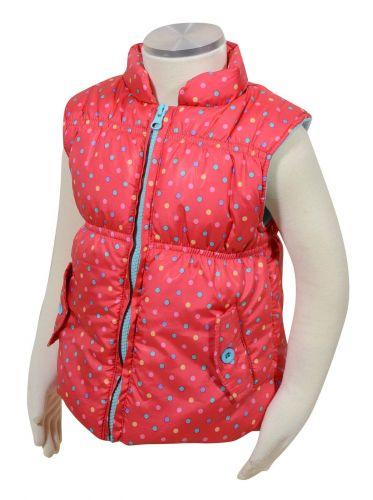Bugga Dívčí vesta s barevnými puntíky