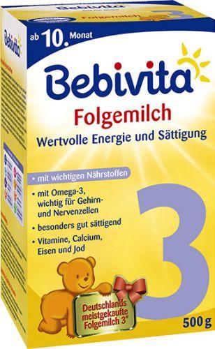 Bebivita Mléko 3 Instantní pokračovací mléčná kojenecká výživa od 9. měsíce 4x500 g