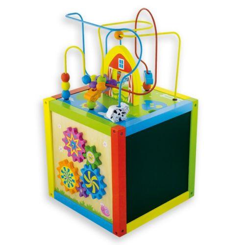 ANDREU Toys Velká multifunkční kostka s tabulí a ozubenými kolečky cena od 0 Kč