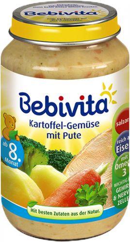 Bebivita Brambory-zelenina s krůtím masem 6x220 g