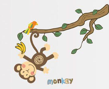Ambiance Opička samolepky