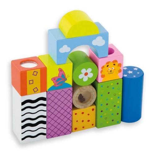 ANDREU Toys Velké dřevěné hrací kostky 12 ks cena od 389 Kč