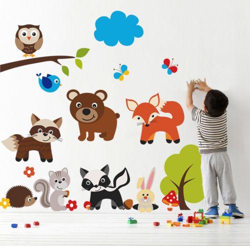 Housedecor Medved a zvířátka samolepky