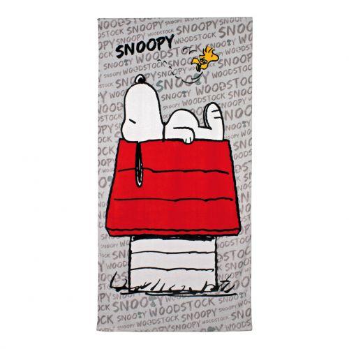 Disney Snoopy červeno bílá osuška
