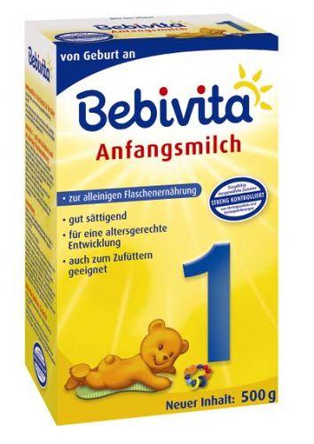 Bebivita Mléko 1 Instantní počáteční mléčná kojenecká výživa od narození 5x500 g
