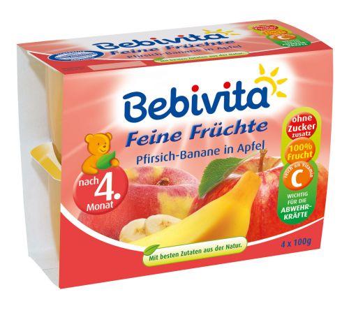 Bebivita Jemná ovocná směs 4x100 g