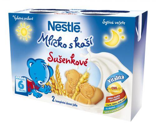 NESTLÉ Mlíčko s kaší sušenkové 2x200 ml