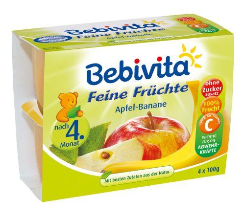 Bebivita Jablka s banány 4x100 g