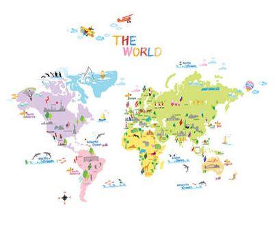 Ambiance Mapa světa samolepky