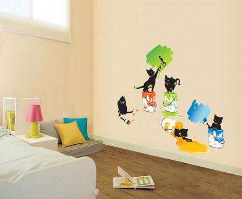 Ambiance Kočky malířky samolepky