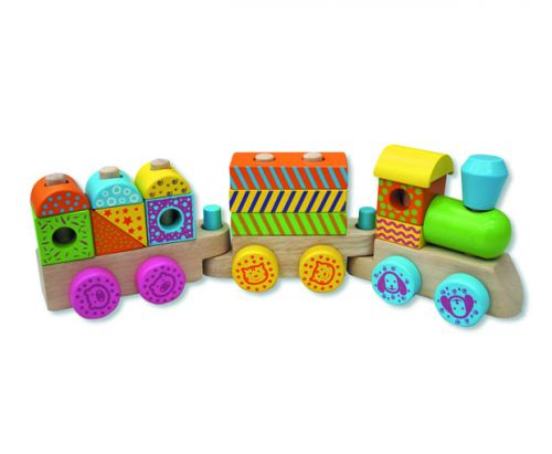 ANDREU Toys Barevný dřevěný vláček cena od 559 Kč