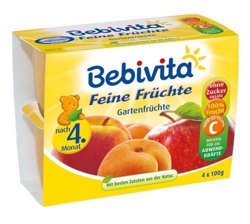 Bebivita Jablka s broskvemi a banány 4x100 g