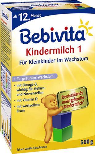 Bebivita Mléko JUNIOR 1+ Instantní pokračovací kojenecká výživa od 11 měsíce 4x500 g