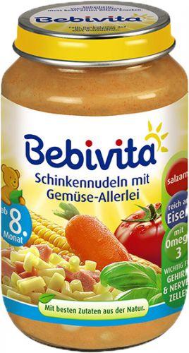 Bebivita Těstoviny se šunkou a zeleninovou směsí 6x220 g