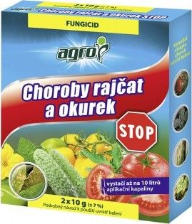 Agro CS Agro Choroby rajčat a okurek STOP 2x10 g