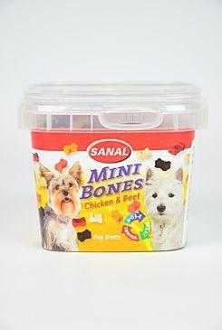 Trixie Sanal pes Mini Bones poloměká kostička kuře/hovězí 100 g