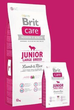 Brit Care Dog Junior Large Breed Lamb & Rice 1 kg