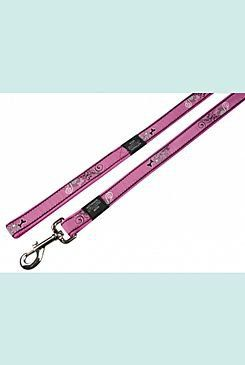 Rogz vodítko Fancy Dress Pink Bone 180/1,1 cm
