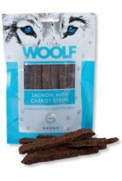 Woolf snack pochoutka salmon with carrot strips 100 g