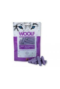 Woolf snack pochoutka soft blueberry strips 100 g