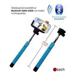 C-TECH Teleskopická selfie tyč