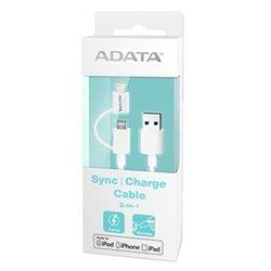 ADATA Lightning MicroUSB kabel MFi 2v1