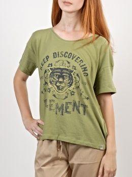 Element Tiger deep moss triko