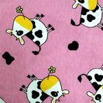 Aesthetic Kreativ kravička růžové bavlněné prostěradlo