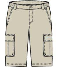 ALPINE PRO LEXIN MPAG153001 šortky