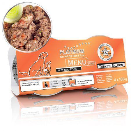 Platinum Menu Mini Krocan + Losos 4x100 g cena od 136 Kč