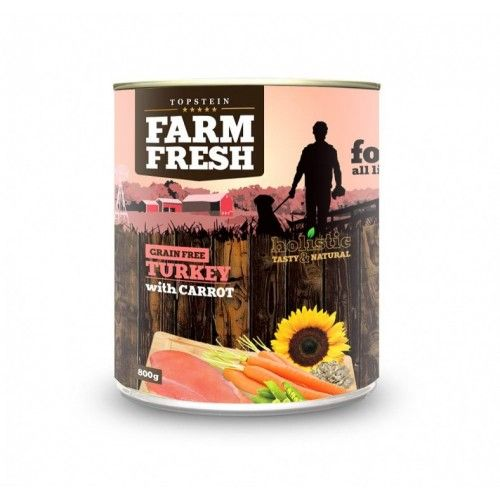 Farm Fresh Turkey with Carrot 800 g cena od 99 Kč