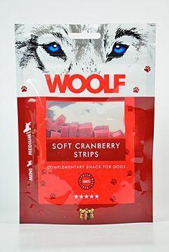 Woolf snack pochoutka soft cranberry strips 100 g