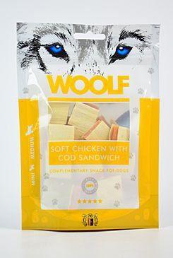 Woolf snack pochoutka soft chicken with cod sandwich 100 g