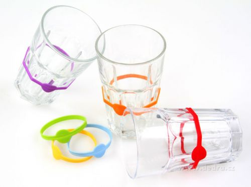DEDRA Silikonové pružné pásky k označení sklenic cena od 69 Kč