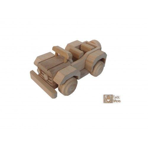 ČistéDřevo Dřevěný džíp H002