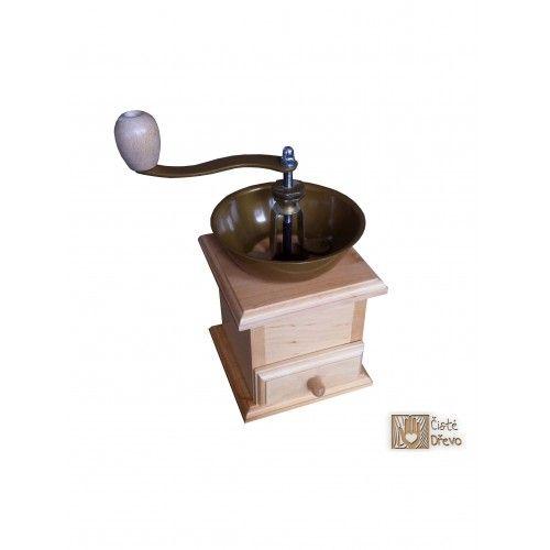 ČistéDřevo Mlýnek na kávu s kovovým zásobníkem