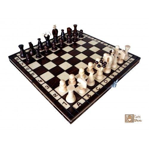 ČistéDřevo Dřevěné šachy TOP 31 x 31 cm cena od 389 Kč
