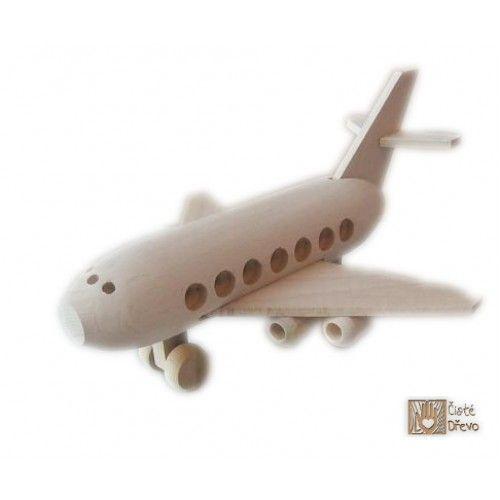 ČistéDřevo Dřevěné letadlo Airbus H028