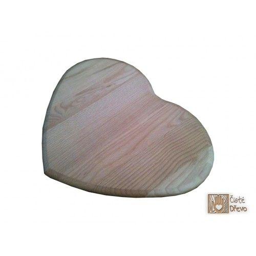 ČistéDřevo Prkénko ve tvaru srdce 36 x 26 cm cena od 149 Kč
