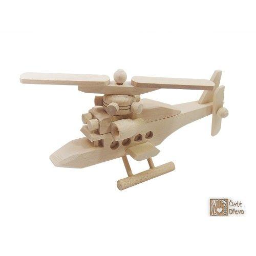 ČistéDřevo Dřevěný vrtulník H003