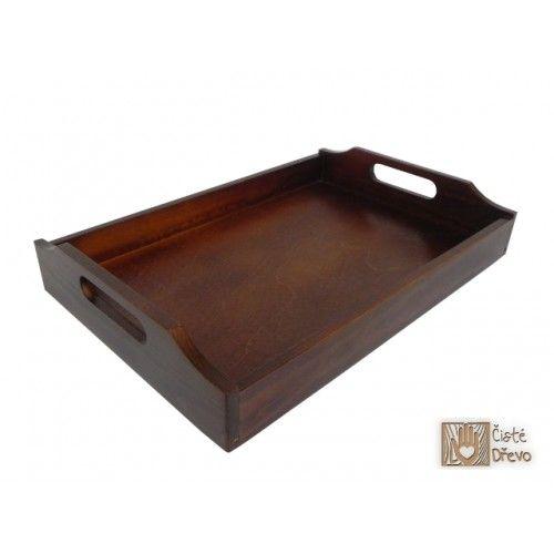 ČistéDřevo Dřevěný servírovací tác 39x26 cm cena od 0 Kč
