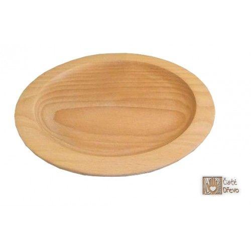 ČistéDřevo Stylový dřevěný talíř cena od 0 Kč
