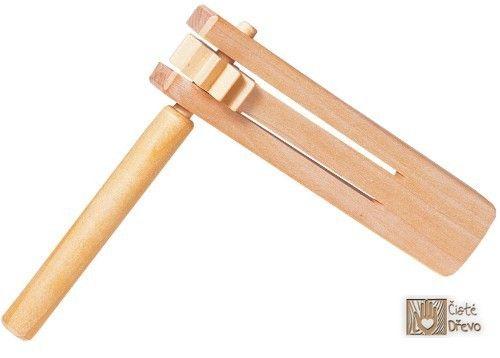 ČistéDřevo Dřevěná řehtačka H020 cena od 0 Kč