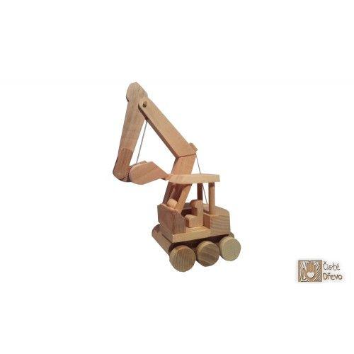 ČistéDřevo Dřevěný bagr H025 cena od 299 Kč