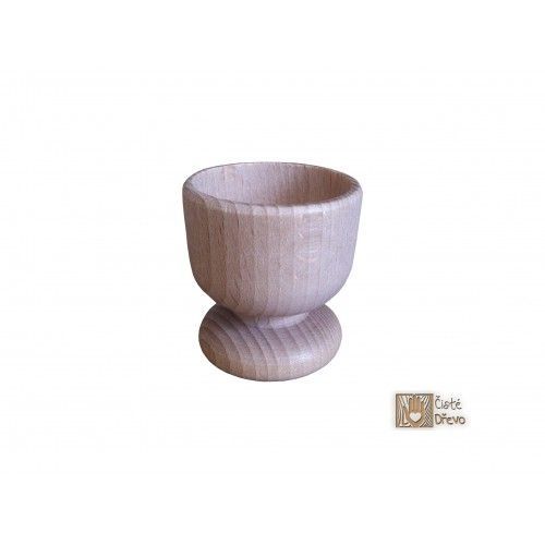 ČistéDřevo Dřevěný kalíšek na vejce 6 cm cena od 39 Kč