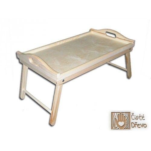 ČistéDřevo Dřevěný servírovací stolek 50x30 cm