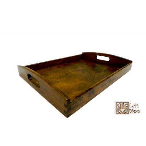 ČistéDřevo Dřevěný servírovací tác 40x30 cm