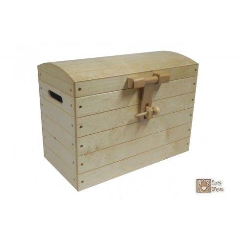 ČistéDřevo Dřevěná truhla H030 cena od 1290 Kč
