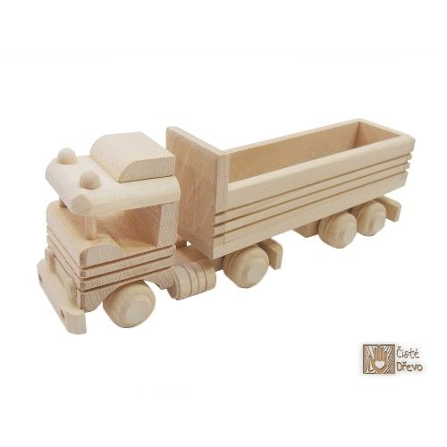 ČistéDřevo Dřevěný kamion s korbou H008