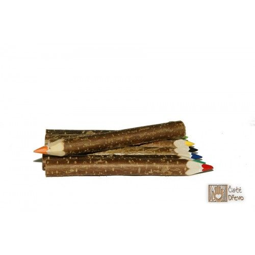 ČistéDřevo Dřevěné pastelky H029